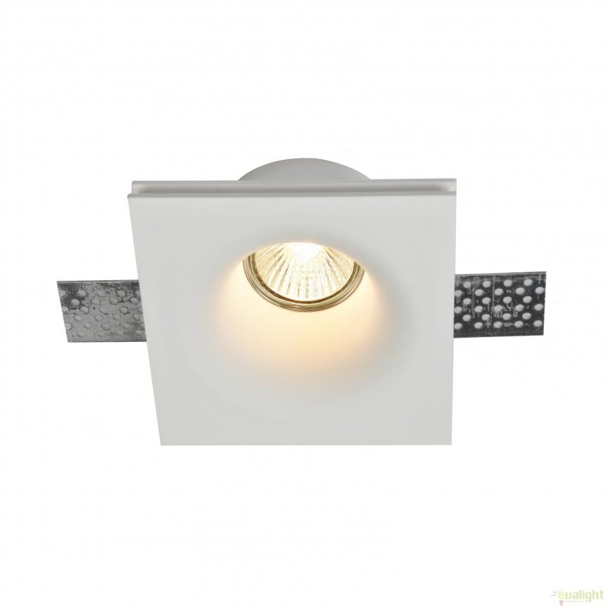 Spot incastrabil DL001 Gyps MYDL001-1-01-W, Spoturi incastrate, aplicate - tavan / perete, Corpuri de iluminat, lustre, aplice, veioze, lampadare, plafoniere. Mobilier si decoratiuni, oglinzi, scaune, fotolii. Oferte speciale iluminat interior si exterior. Livram in toata tara.  a