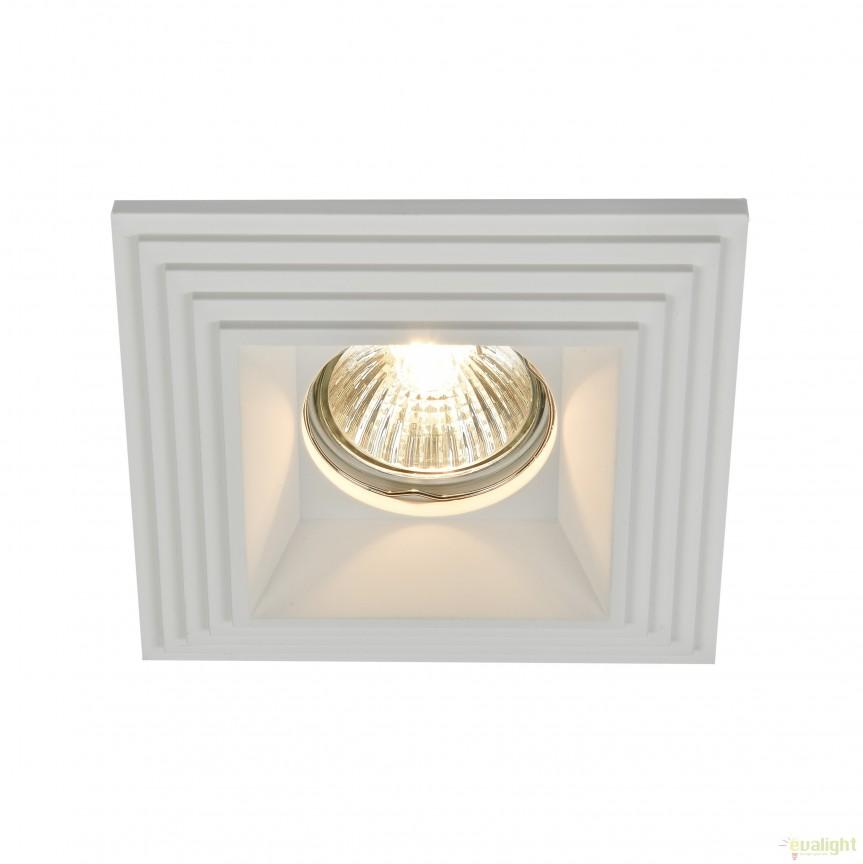 Spot incastrabil DL005 Gyps MYDL001-1-01-W, Spoturi incastrate, aplicate - tavan / perete, Corpuri de iluminat, lustre, aplice, veioze, lampadare, plafoniere. Mobilier si decoratiuni, oglinzi, scaune, fotolii. Oferte speciale iluminat interior si exterior. Livram in toata tara.  a