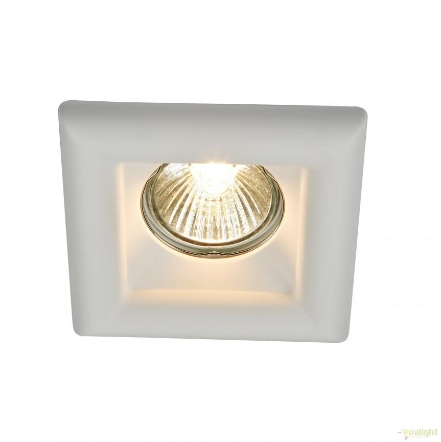 Spot incastrabil DL007 Gyps MYDL007-1-01-W, Spoturi incastrate, aplicate - tavan / perete, Corpuri de iluminat, lustre, aplice, veioze, lampadare, plafoniere. Mobilier si decoratiuni, oglinzi, scaune, fotolii. Oferte speciale iluminat interior si exterior. Livram in toata tara.  a