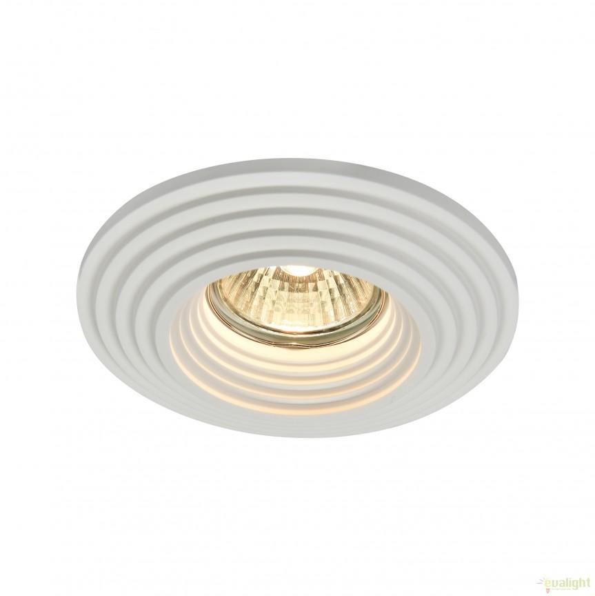 Spot incastrabil DL007 Gyps MYDL004-1-01-W, Spoturi incastrate, aplicate - tavan / perete, Corpuri de iluminat, lustre, aplice, veioze, lampadare, plafoniere. Mobilier si decoratiuni, oglinzi, scaune, fotolii. Oferte speciale iluminat interior si exterior. Livram in toata tara.  a