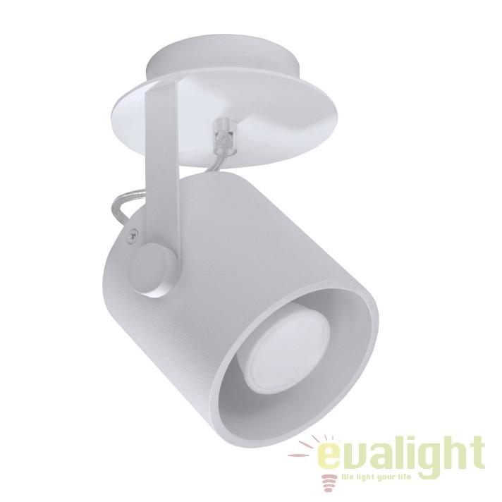Plafoniera tip Spot directionabil LAROSA 1 negru SL.0311, Spoturi - iluminat - cu 1 spot, Corpuri de iluminat, lustre, aplice, veioze, lampadare, plafoniere. Mobilier si decoratiuni, oglinzi, scaune, fotolii. Oferte speciale iluminat interior si exterior. Livram in toata tara.  a