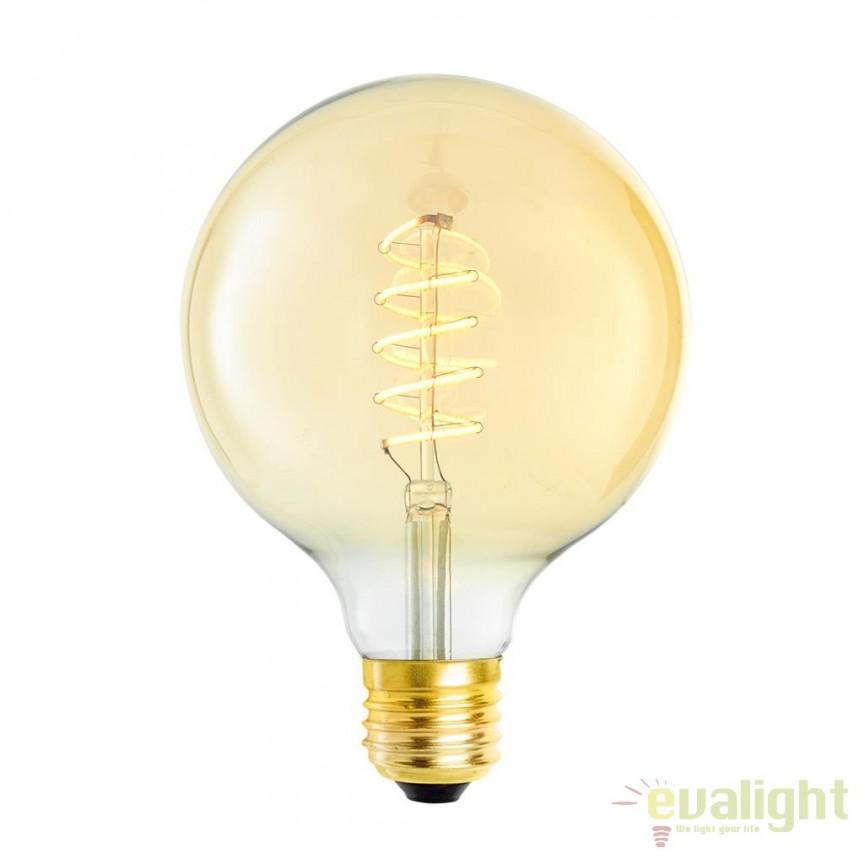 Set de 4 becuri E27 LED Bulb Globe 4W 111178 HZ, Becuri E27, Corpuri de iluminat, lustre, aplice, veioze, lampadare, plafoniere. Mobilier si decoratiuni, oglinzi, scaune, fotolii. Oferte speciale iluminat interior si exterior. Livram in toata tara.  a