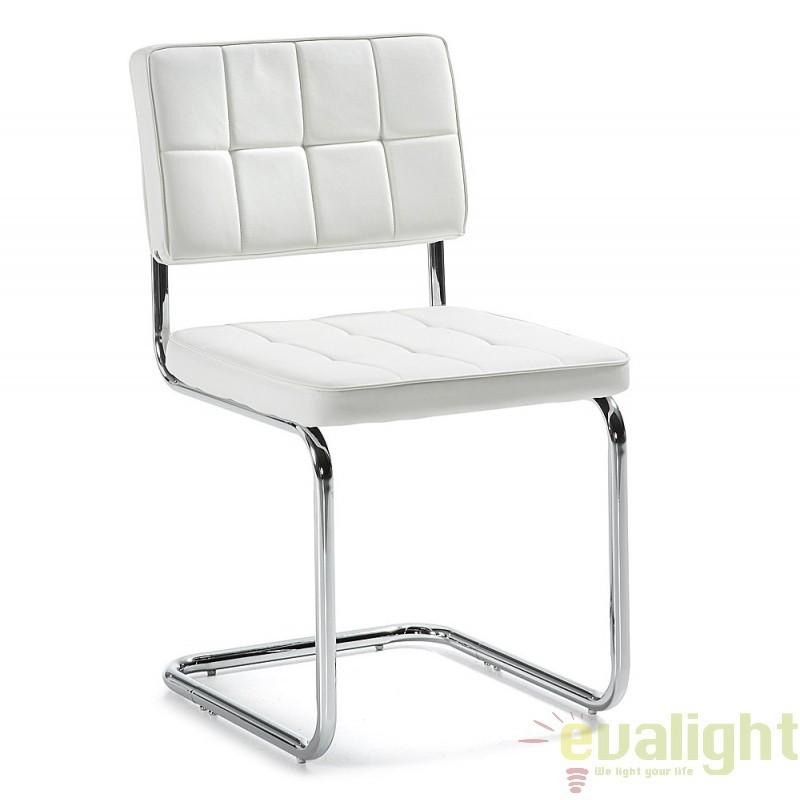 Scaun elegant si modern cu design ergonomic ideal pentru sali de conferinta sau birouri, Enna alb C495U05 JG, PROMOTII, Corpuri de iluminat, lustre, aplice, veioze, lampadare, plafoniere. Mobilier si decoratiuni, oglinzi, scaune, fotolii. Oferte speciale iluminat interior si exterior. Livram in toata tara.  a