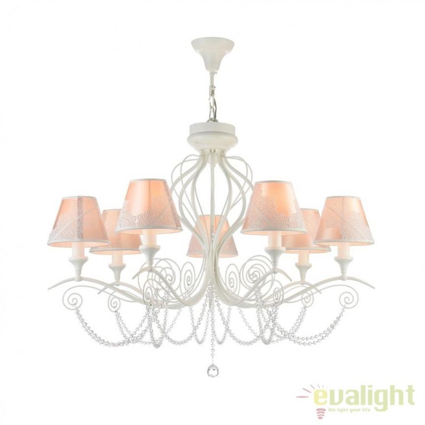 Candelabru design elegant 2 in 1 cu 5 brate Lucy MYARM042-07-W