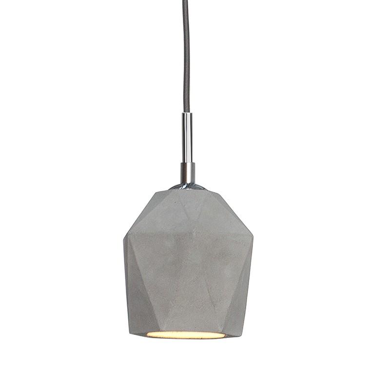 Pendul modern realizat manual din beton, Cement Prisma 15cm A-36240 VC, PROMOTII, Corpuri de iluminat, lustre, aplice, veioze, lampadare, plafoniere. Mobilier si decoratiuni, oglinzi, scaune, fotolii. Oferte speciale iluminat interior si exterior. Livram in toata tara.  a