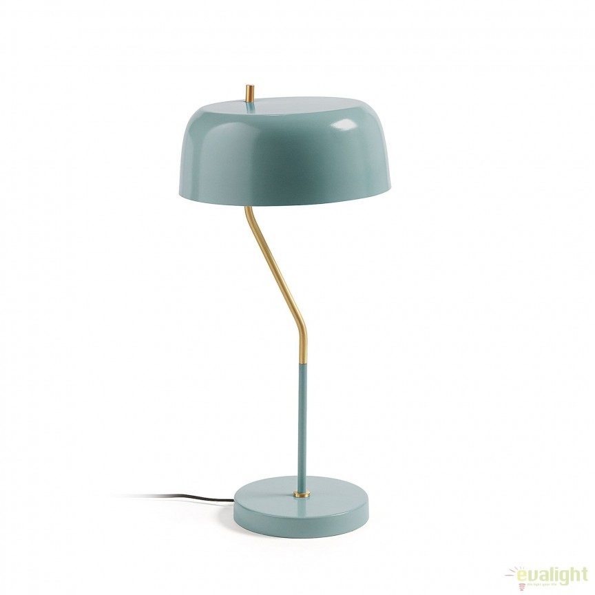 Veioza / Lampa de birou moderna VERSA albastru deschis AA1246R27 JG, Veioze de Birou moderne, Corpuri de iluminat, lustre, aplice, veioze, lampadare, plafoniere. Mobilier si decoratiuni, oglinzi, scaune, fotolii. Oferte speciale iluminat interior si exterior. Livram in toata tara.  a