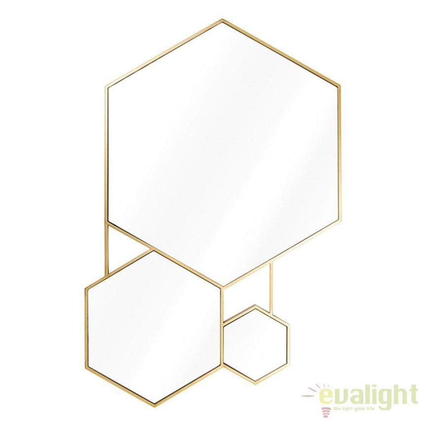 Oglinda de perete eleganta, design LUX Hexa, auriu 111663 HZ, Oglinzi decorative , moderne✅ decoratiuni de perete cu oglinda⭐ modele mari si rotunde pentru Hol, Living, Dormitor si Baie.❤️Promotii la oglinzi cu design decorativ❗ Intra si vezi poze ✚ pret ➽ www.evalight.ro. ➽ sursa ta de inspiratie online❗ Alege oglinzi deosebite Art Deco de lux pentru decorare casa, fabricate de branduri renumite. Aici gasesti cele mai frumoase si rafinate obiecte de decor cu stil contemporan unicat, oglinzi elegante cu suport de prindere pe perete, de masa sau de podea potrivite pt dresing, cu rama din metal cu aspect antichizat sau lemn de culoare aurie, sticla argintie in diferite forme: oglinzi in forma de soare, hexagonale tip fagure hexagon, ovale, patrate mici, rectangulara sau dreptunghiulara, design original exclusivist: industrial style, retro, vintage (produse manual handmade), scandinav nordic, clasic, baroc, glamour, romantic, rustic, minimalist. Tendinte si idei actuale de designer pentru amenajari interioare premium Top 2020❗ Oferte si reduceri speciale cu vanzare rapida din stoc, oglinzi de calitate la cel mai bun pret. a