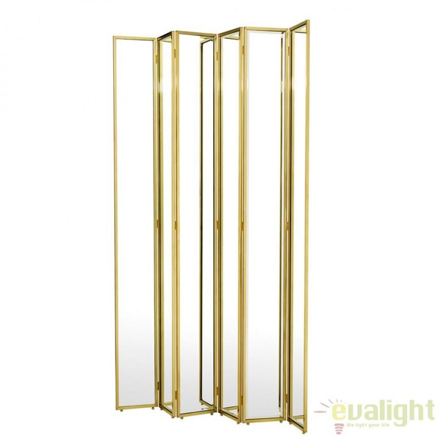 Paravan decorativ design LUX cu oglinda, Mademoiselle Gabrielle 109689 HZ, Mobilier divers, Corpuri de iluminat, lustre, aplice, veioze, lampadare, plafoniere. Mobilier si decoratiuni, oglinzi, scaune, fotolii. Oferte speciale iluminat interior si exterior. Livram in toata tara.  a