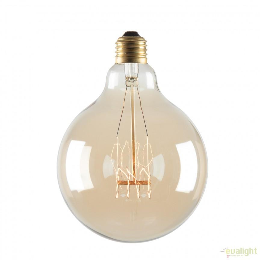 Bec edison style Vintage 125x175mm E27 40W AA1707 JG, Promotii si Reduceri⭐ Oferte ✅Corpuri de iluminat ✅Lustre ✅Mobila ✅Decoratiuni de interior si exterior.⭕Pret redus online➜Lichidari de stoc❗ Magazin ➽ www.evalight.ro. a
