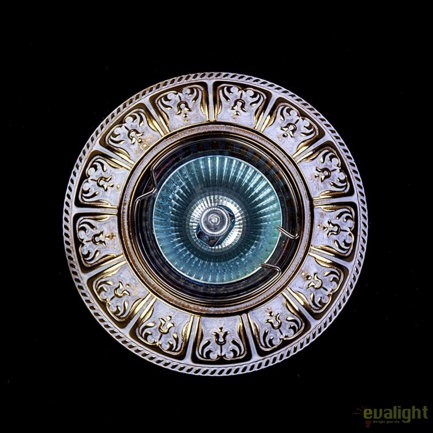 Spot tavan fals design LUX Bohemia White Gold, Spoturi incastrate, aplicate - tavan / perete, Corpuri de iluminat, lustre, aplice, veioze, lampadare, plafoniere. Mobilier si decoratiuni, oglinzi, scaune, fotolii. Oferte speciale iluminat interior si exterior. Livram in toata tara.  a
