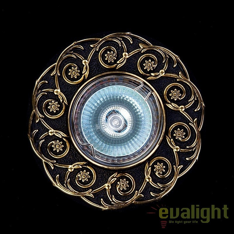 Spot tavan fals design LUX Bohemia Brass Antique, Spoturi incastrate, aplicate - tavan / perete, Corpuri de iluminat, lustre, aplice, veioze, lampadare, plafoniere. Mobilier si decoratiuni, oglinzi, scaune, fotolii. Oferte speciale iluminat interior si exterior. Livram in toata tara.  a