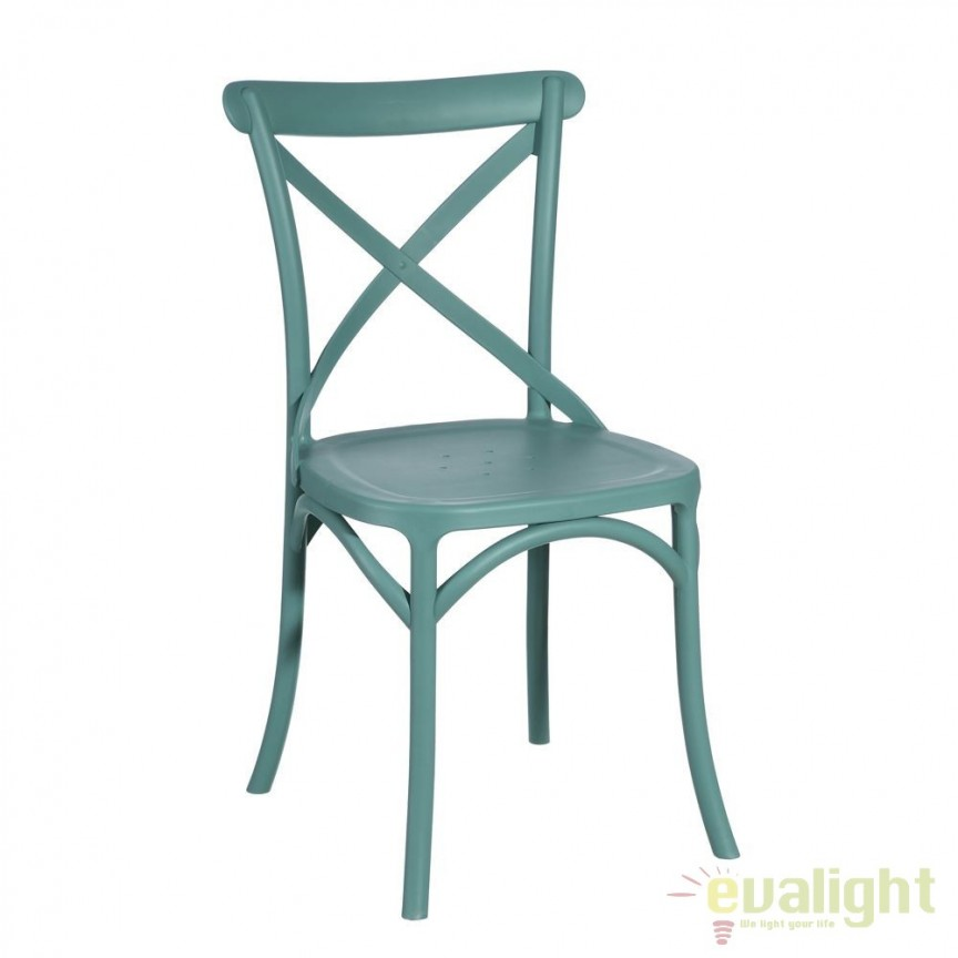 Set de 2 scaune design modern Jasna turquosie SX-90557, Mobilier terasa si gradina, Corpuri de iluminat, lustre, aplice, veioze, lampadare, plafoniere. Mobilier si decoratiuni, oglinzi, scaune, fotolii. Oferte speciale iluminat interior si exterior. Livram in toata tara.  a