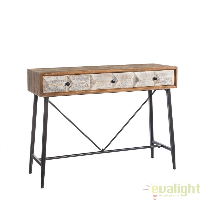 Consola design industrial vintage Habeto SX-101911, Console - Birouri, Corpuri de iluminat, lustre, aplice, veioze, lampadare, plafoniere. Mobilier si decoratiuni, oglinzi, scaune, fotolii. Oferte speciale iluminat interior si exterior. Livram in toata tara.  a