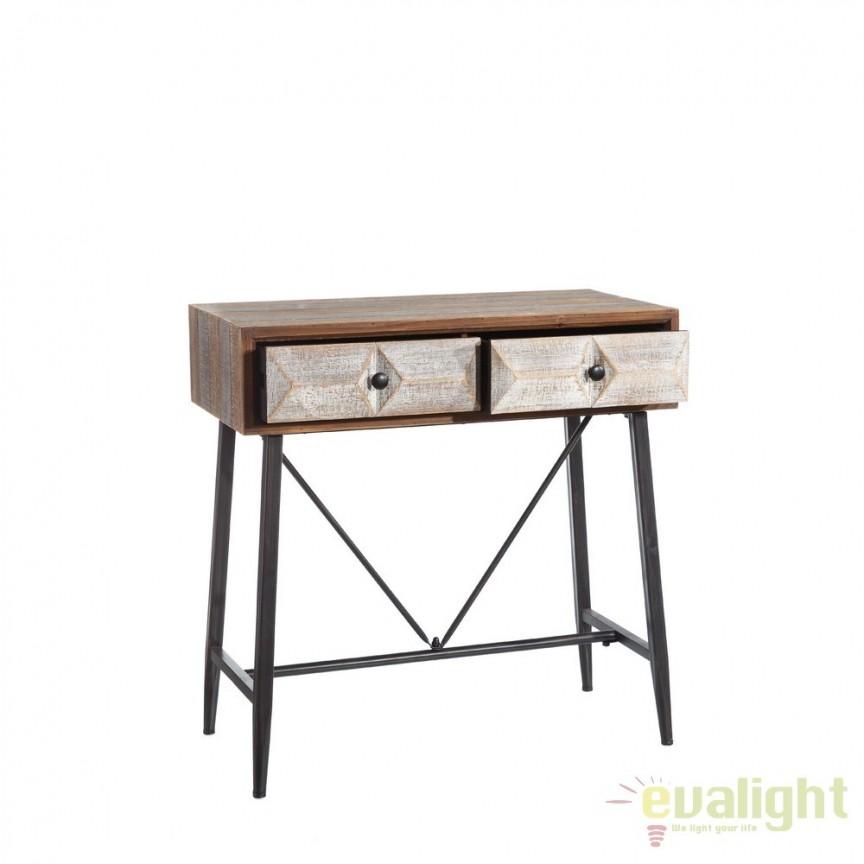 Consola design industrial vintage Habeto SX-101910, Console - Birouri, Corpuri de iluminat, lustre, aplice, veioze, lampadare, plafoniere. Mobilier si decoratiuni, oglinzi, scaune, fotolii. Oferte speciale iluminat interior si exterior. Livram in toata tara.  a