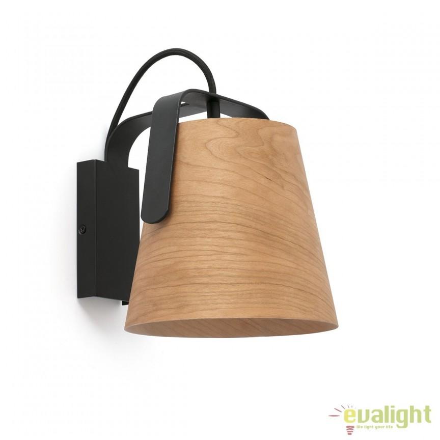 Aplica perete lemn design deosebit STOOD 29844 Faro Barcelona , Aplice de perete, Corpuri de iluminat, lustre, aplice, veioze, lampadare, plafoniere. Mobilier si decoratiuni, oglinzi, scaune, fotolii. Oferte speciale iluminat interior si exterior. Livram in toata tara.  a
