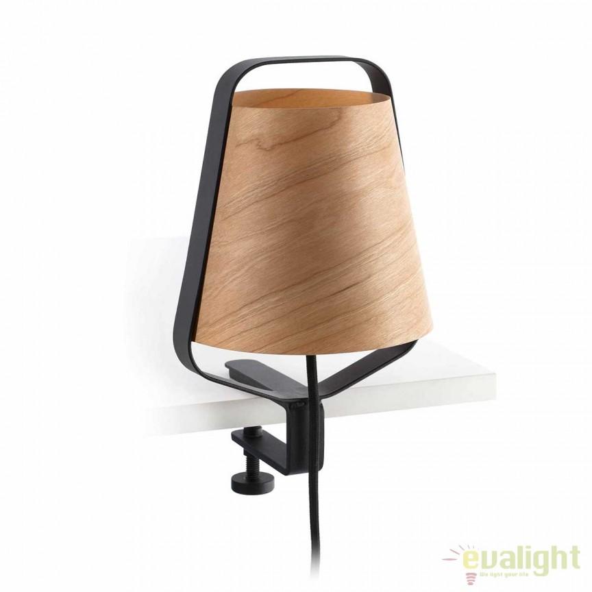 Veioza clip / Lampa lemn design deosebit STOOD 29845 Faro Barcelona , Veioze, Corpuri de iluminat, lustre, aplice, veioze, lampadare, plafoniere. Mobilier si decoratiuni, oglinzi, scaune, fotolii. Oferte speciale iluminat interior si exterior. Livram in toata tara.  a