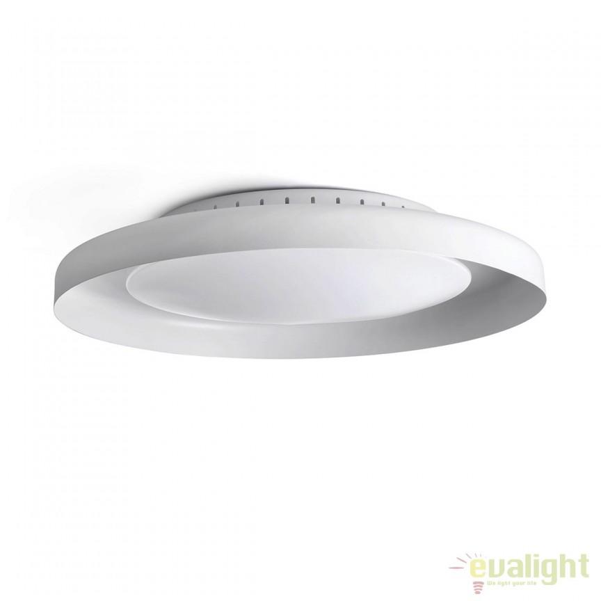 Plafoniera LED design ultramodern minimalist DOLME White 64097 Faro Barcelona , ILUMINAT INTERIOR LED , Corpuri de iluminat, lustre, aplice, veioze, lampadare, plafoniere. Mobilier si decoratiuni, oglinzi, scaune, fotolii. Oferte speciale iluminat interior si exterior. Livram in toata tara.  a