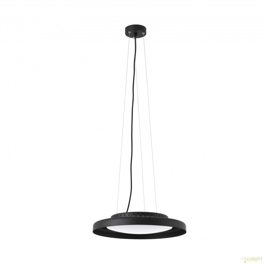Lustra LED design ultramodern minimalist DOLME Black 64098 Faro Barcelona, Lustre LED, Pendule LED, Corpuri de iluminat, lustre, aplice, veioze, lampadare, plafoniere. Mobilier si decoratiuni, oglinzi, scaune, fotolii. Oferte speciale iluminat interior si exterior. Livram in toata tara.  a