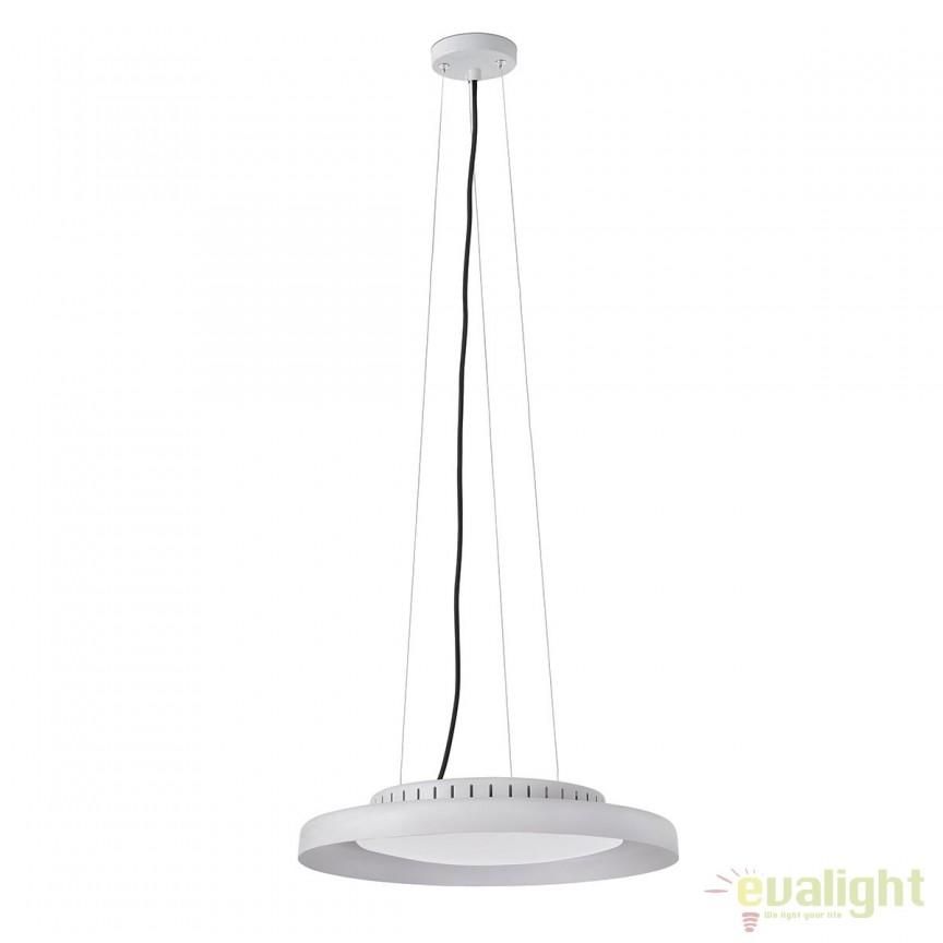 Lustra LED design ultramodern minimalist DOLME White 64099 Faro Barcelona, Lustre LED, Pendule LED, Corpuri de iluminat, lustre, aplice, veioze, lampadare, plafoniere. Mobilier si decoratiuni, oglinzi, scaune, fotolii. Oferte speciale iluminat interior si exterior. Livram in toata tara.  a