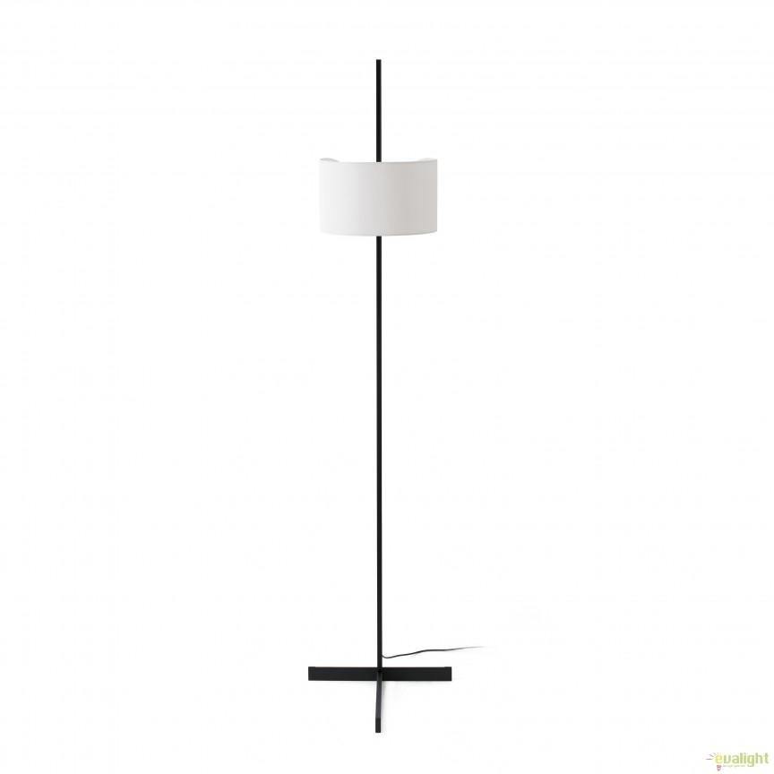 Lampadar / Lampa de podea design modern minimalist STAND UP negru/alb 57211 Faro Barcelona, Lampadare, Corpuri de iluminat, lustre, aplice, veioze, lampadare, plafoniere. Mobilier si decoratiuni, oglinzi, scaune, fotolii. Oferte speciale iluminat interior si exterior. Livram in toata tara.  a