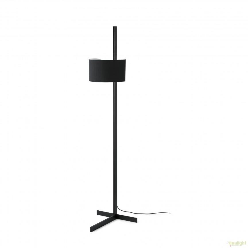 Lampadar / Lampa de podea design modern minimalist STAND UP negru/negru 57213 Faro Barcelona, Lampadare, Corpuri de iluminat, lustre, aplice, veioze, lampadare, plafoniere. Mobilier si decoratiuni, oglinzi, scaune, fotolii. Oferte speciale iluminat interior si exterior. Livram in toata tara.  a