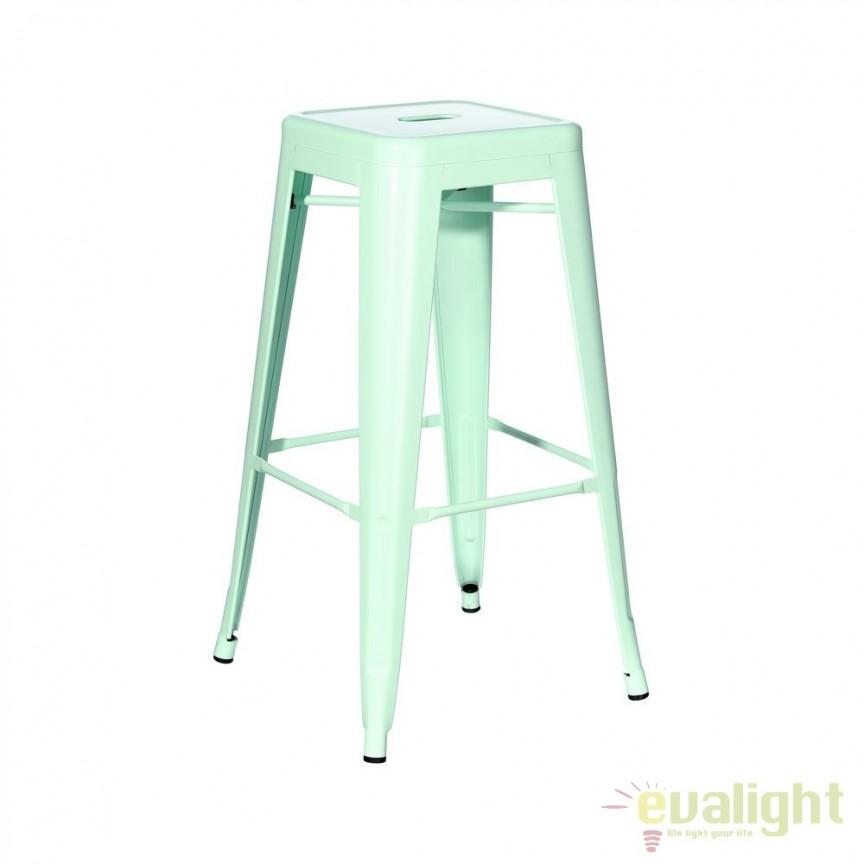 Set de 4 scaune bar design industrial DALLAS H61,2cm verde SX-91171, Scaune de bar, Corpuri de iluminat, lustre, aplice, veioze, lampadare, plafoniere. Mobilier si decoratiuni, oglinzi, scaune, fotolii. Oferte speciale iluminat interior si exterior. Livram in toata tara.  a