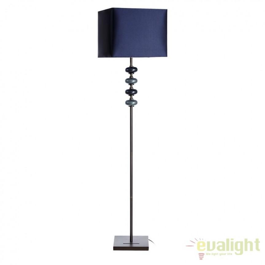 Lampadar albastru design modern Abigail SX-102490, Outlet, Corpuri de iluminat, lustre, aplice, veioze, lampadare, plafoniere. Mobilier si decoratiuni, oglinzi, scaune, fotolii. Oferte speciale iluminat interior si exterior. Livram in toata tara.  a