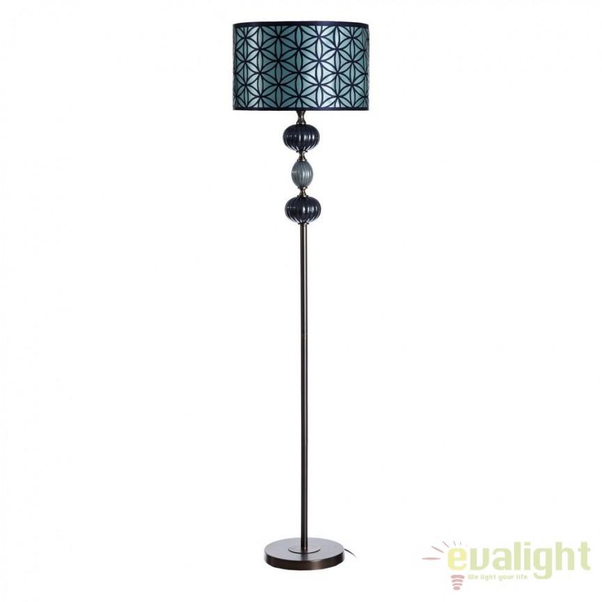 Lampadar albastru design modern Annis SX-102492, Lampadare, Corpuri de iluminat, lustre, aplice, veioze, lampadare, plafoniere. Mobilier si decoratiuni, oglinzi, scaune, fotolii. Oferte speciale iluminat interior si exterior. Livram in toata tara.  a