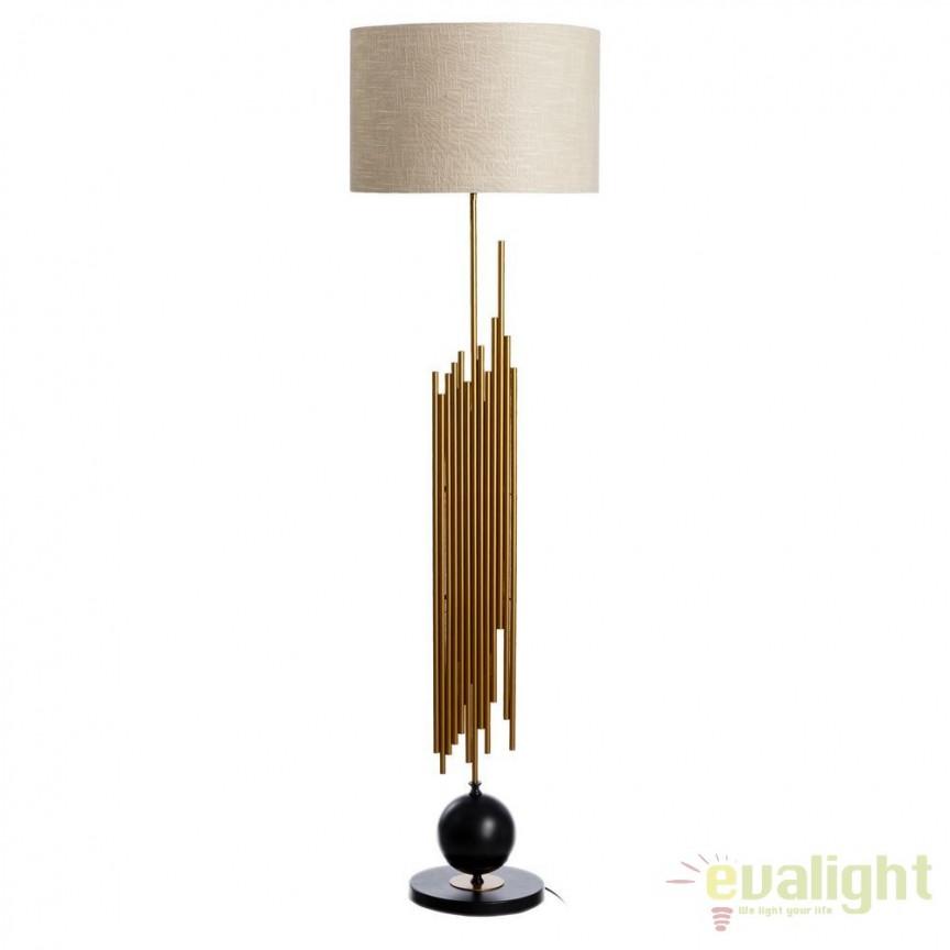 Lampa de podea eleganta din fier auriu si negru Annelle SX-102499, Lampadare, Corpuri de iluminat, lustre, aplice, veioze, lampadare, plafoniere. Mobilier si decoratiuni, oglinzi, scaune, fotolii. Oferte speciale iluminat interior si exterior. Livram in toata tara.  a
