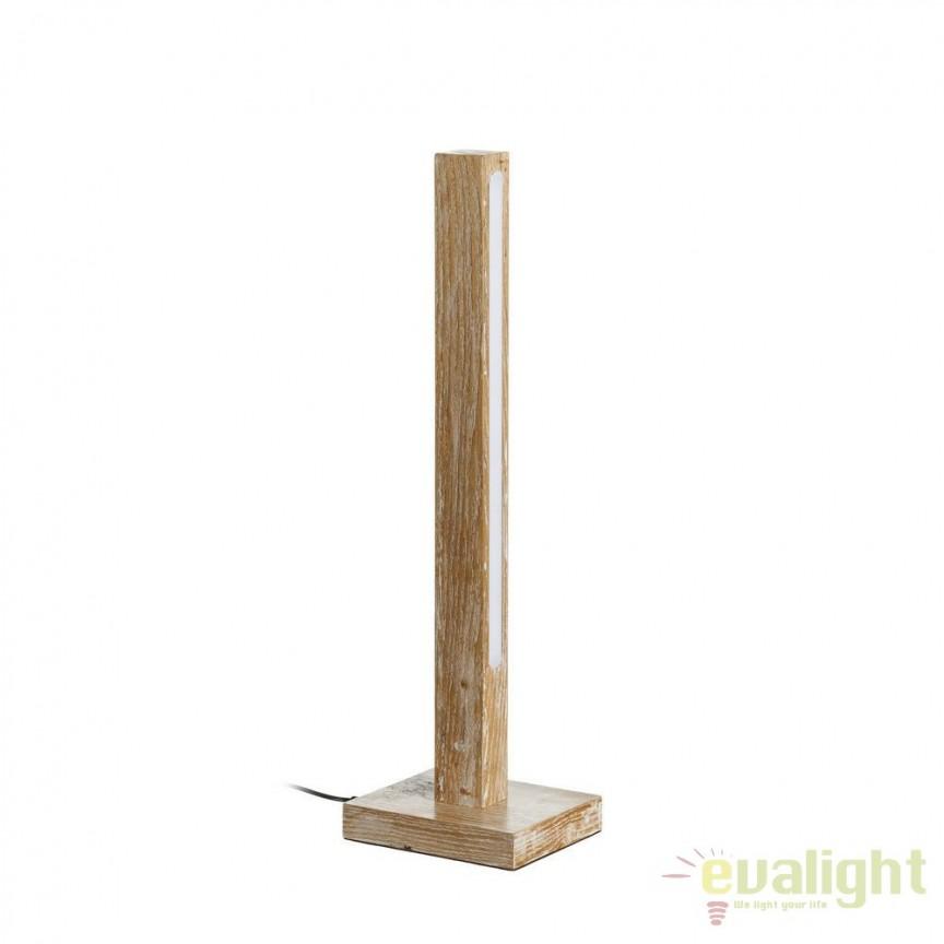 Lampa de masa cu iluminat LED Azalee, lemn natur SX-102448, ILUMINAT INTERIOR LED , Corpuri de iluminat, lustre, aplice, veioze, lampadare, plafoniere. Mobilier si decoratiuni, oglinzi, scaune, fotolii. Oferte speciale iluminat interior si exterior. Livram in toata tara.  a