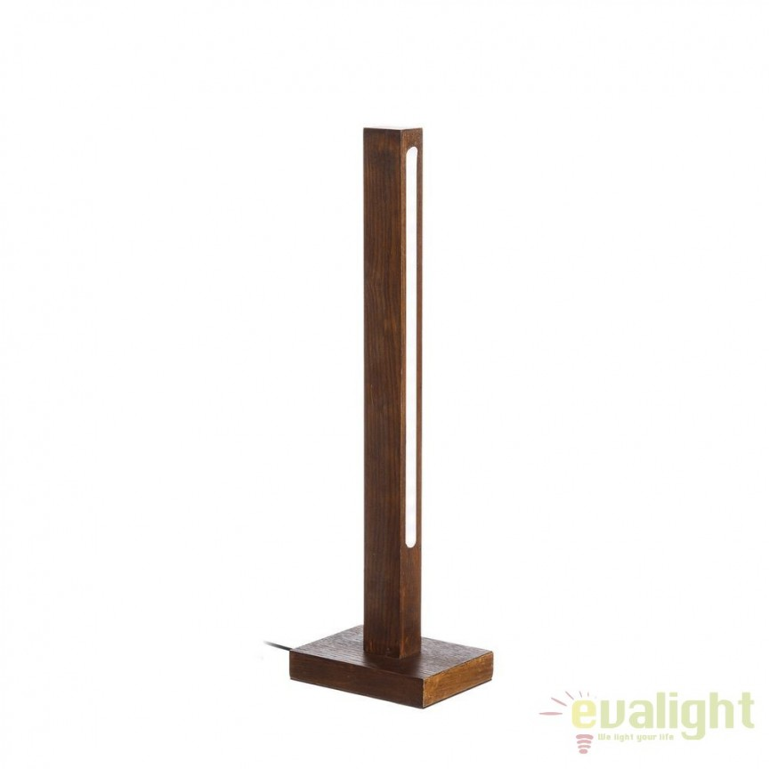 Lampa de masa cu iluminat LED Azalee, lemn maro SX-102449, ILUMINAT INTERIOR LED , Corpuri de iluminat, lustre, aplice, veioze, lampadare, plafoniere. Mobilier si decoratiuni, oglinzi, scaune, fotolii. Oferte speciale iluminat interior si exterior. Livram in toata tara.  a