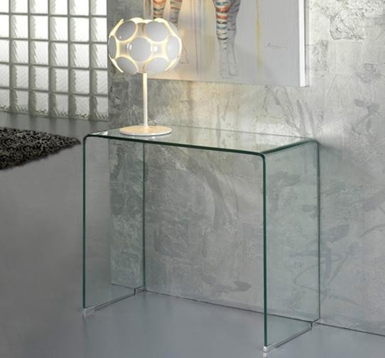 Consola moderna dim.90x40cm -Clear console table- Glass 552431, Mobila si Decoratiuni,  a