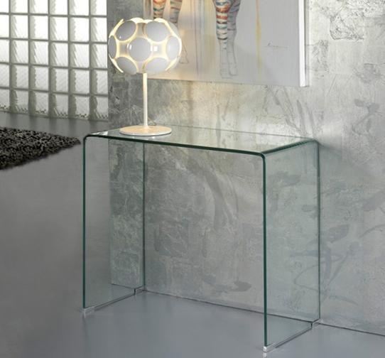 Consola moderna dim.90x40cm -Clear console table- Glass 552431, Console - Birouri, Corpuri de iluminat, lustre, aplice a