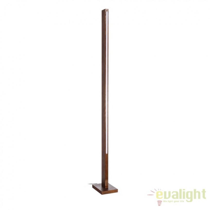 Lampa de podea cu iluminat LED Azalee, lemn maro SX-102451, ILUMINAT INTERIOR LED , Corpuri de iluminat, lustre, aplice, veioze, lampadare, plafoniere. Mobilier si decoratiuni, oglinzi, scaune, fotolii. Oferte speciale iluminat interior si exterior. Livram in toata tara.  a