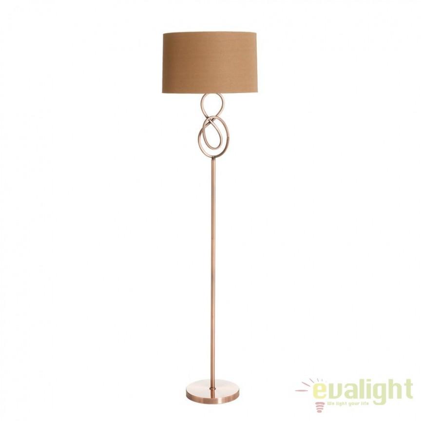 Lampadar modern din metal finisaj cupru COBRE SX-91632, Lampadare, Corpuri de iluminat, lustre, aplice, veioze, lampadare, plafoniere. Mobilier si decoratiuni, oglinzi, scaune, fotolii. Oferte speciale iluminat interior si exterior. Livram in toata tara.  a