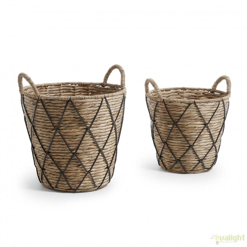 Set de cosuri decorative din fibre naturale MAJA AA1179FN46 JG, PROMOTII,  a