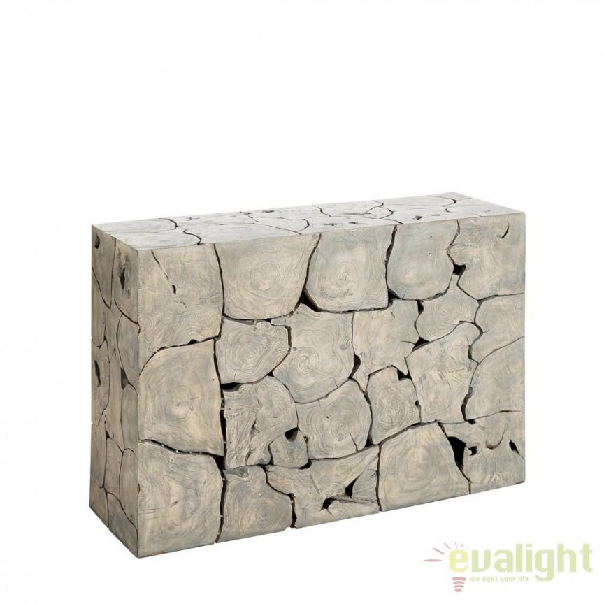 Consola design unicat realizata manual din lemn de tec reciclat, Mawar DZ-120122, Console - Birouri, Corpuri de iluminat, lustre, aplice, veioze, lampadare, plafoniere. Mobilier si decoratiuni, oglinzi, scaune, fotolii. Oferte speciale iluminat interior si exterior. Livram in toata tara.  a