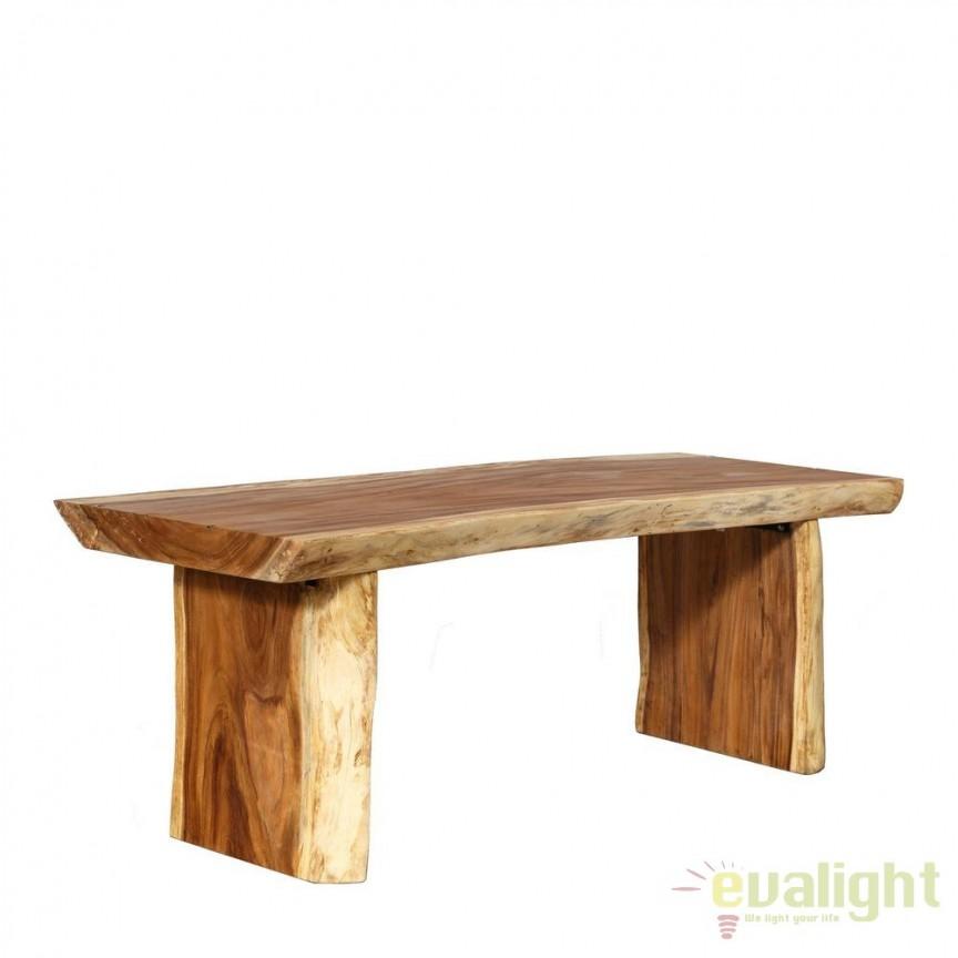 Masa design unicat realizata manual din lemn de suar, Mawar 200x80cm DZ-94924, Mese dining, Corpuri de iluminat, lustre, aplice, veioze, lampadare, plafoniere. Mobilier si decoratiuni, oglinzi, scaune, fotolii. Oferte speciale iluminat interior si exterior. Livram in toata tara.  a