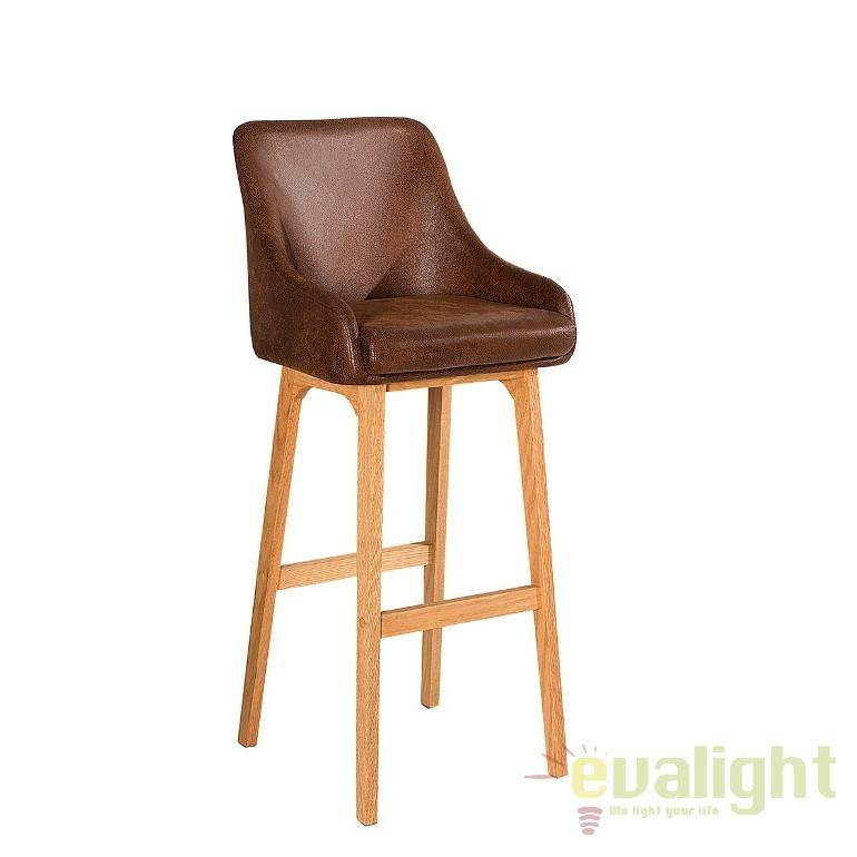 Set 2 scaune bar Scandinavia, cafeniu antic A-37551 VC, Scaune de bar, Corpuri de iluminat, lustre, aplice, veioze, lampadare, plafoniere. Mobilier si decoratiuni, oglinzi, scaune, fotolii. Oferte speciale iluminat interior si exterior. Livram in toata tara.  a