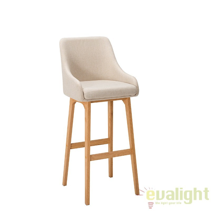 Set 2 scaune bar Scandinavia, bej A-37553 VC, Scaune de bar, Corpuri de iluminat, lustre, aplice, veioze, lampadare, plafoniere. Mobilier si decoratiuni, oglinzi, scaune, fotolii. Oferte speciale iluminat interior si exterior. Livram in toata tara.  a