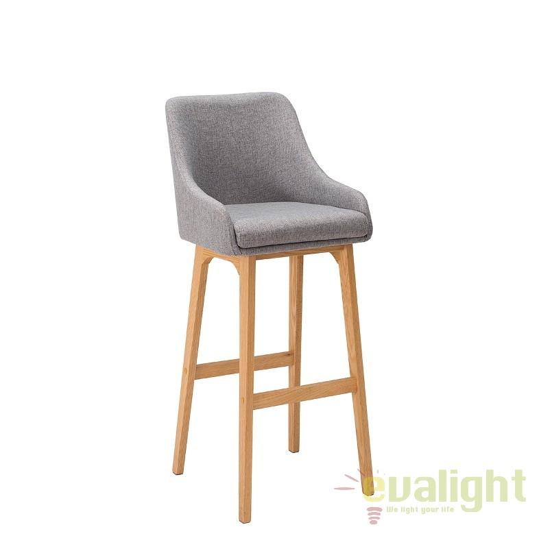 Set 2 scaune bar Scandinavia, gri A-37554 VC, Scaune de bar, Corpuri de iluminat, lustre, aplice, veioze, lampadare, plafoniere. Mobilier si decoratiuni, oglinzi, scaune, fotolii. Oferte speciale iluminat interior si exterior. Livram in toata tara.  a