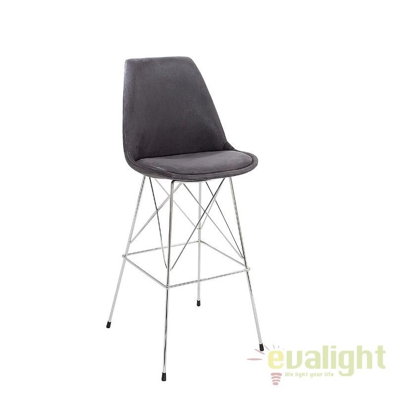 Set 2 scaune de bar Scandinavia gri antic A-37556 VC, Scaune de bar, Corpuri de iluminat, lustre, aplice, veioze, lampadare, plafoniere. Mobilier si decoratiuni, oglinzi, scaune, fotolii. Oferte speciale iluminat interior si exterior. Livram in toata tara.  a