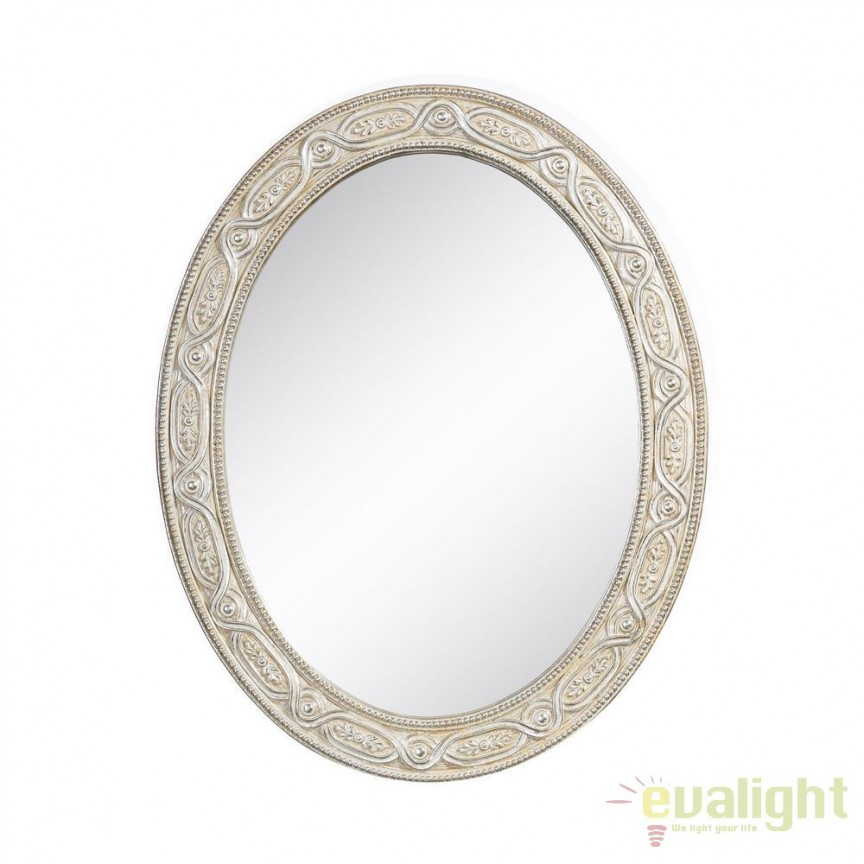 Oglinda de perete decorativa Aurora 40x50cm, argintiu SX-100731, Oglinzi decorative, Corpuri de iluminat, lustre, aplice, veioze, lampadare, plafoniere. Mobilier si decoratiuni, oglinzi, scaune, fotolii. Oferte speciale iluminat interior si exterior. Livram in toata tara.  a