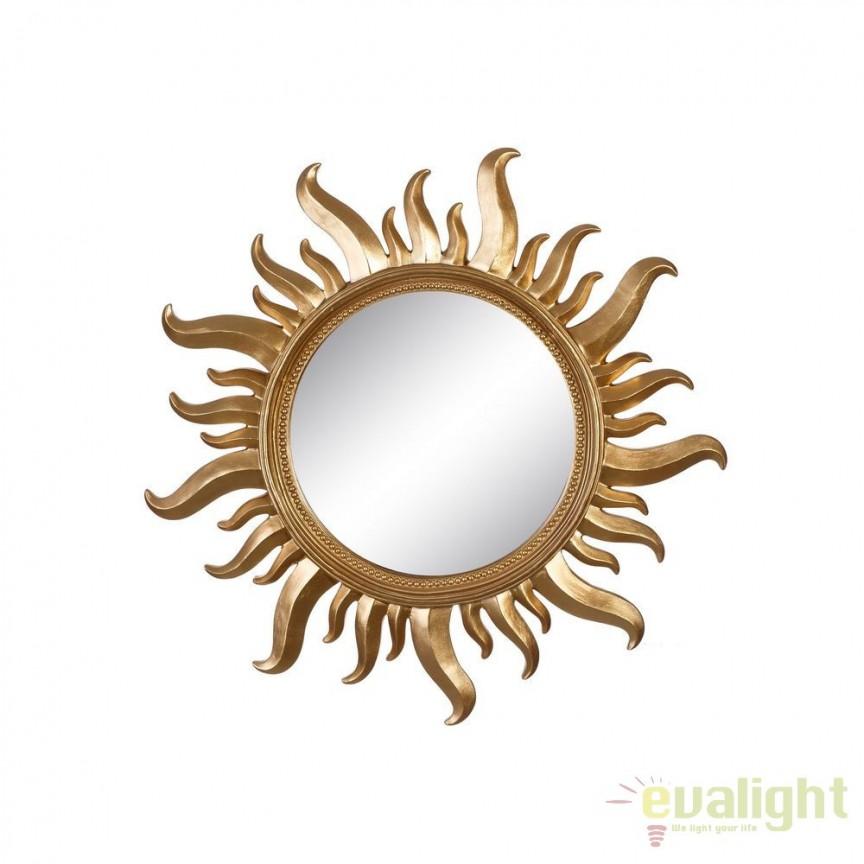 Oglinda de perete Sun 50cm, auriu SX-102610, Oglinzi decorative, Corpuri de iluminat, lustre, aplice, veioze, lampadare, plafoniere. Mobilier si decoratiuni, oglinzi, scaune, fotolii. Oferte speciale iluminat interior si exterior. Livram in toata tara.  a