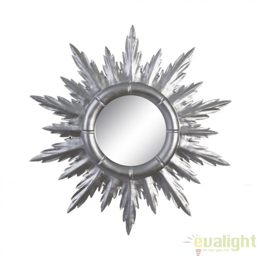 Oglinda de perete Allison 50cm, argintiu SX-102607, Oglinzi decorative, Corpuri de iluminat, lustre, aplice, veioze, lampadare, plafoniere. Mobilier si decoratiuni, oglinzi, scaune, fotolii. Oferte speciale iluminat interior si exterior. Livram in toata tara.  a