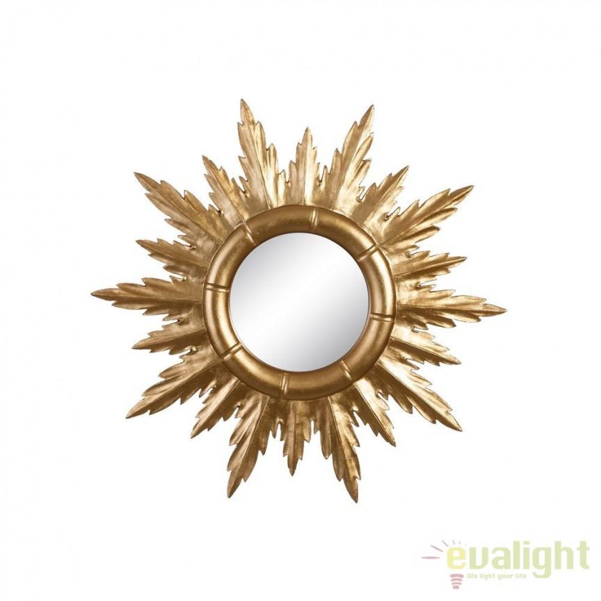 Oglinda de perete Allison 50cm, auriu SX-102608, Oglinzi decorative, Corpuri de iluminat, lustre, aplice, veioze, lampadare, plafoniere. Mobilier si decoratiuni, oglinzi, scaune, fotolii. Oferte speciale iluminat interior si exterior. Livram in toata tara.  a