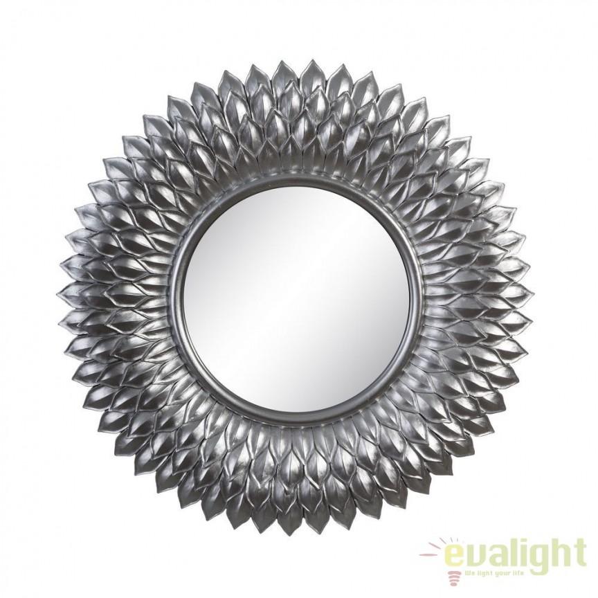 Oglinda de perete Aleta 50cm, argintiu SX-102613, Oglinzi decorative, Corpuri de iluminat, lustre, aplice, veioze, lampadare, plafoniere. Mobilier si decoratiuni, oglinzi, scaune, fotolii. Oferte speciale iluminat interior si exterior. Livram in toata tara.  a