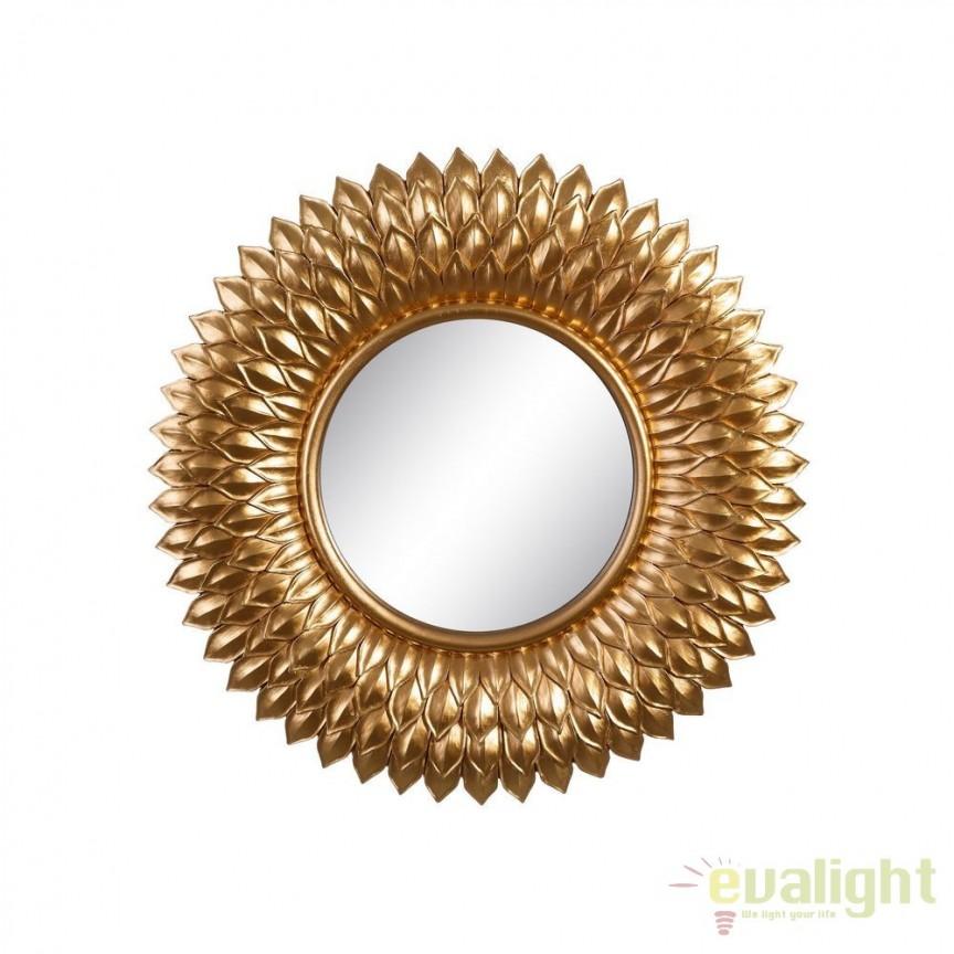 Oglinda de perete Aleta 50cm, auriu SX-102614, Oglinzi decorative, Corpuri de iluminat, lustre, aplice, veioze, lampadare, plafoniere. Mobilier si decoratiuni, oglinzi, scaune, fotolii. Oferte speciale iluminat interior si exterior. Livram in toata tara.  a