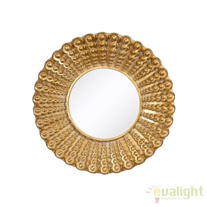 Oglinda de perete Annelle 48cm, auriu SX-100732, Oglinzi decorative, Corpuri de iluminat, lustre, aplice, veioze, lampadare, plafoniere. Mobilier si decoratiuni, oglinzi, scaune, fotolii. Oferte speciale iluminat interior si exterior. Livram in toata tara.  a