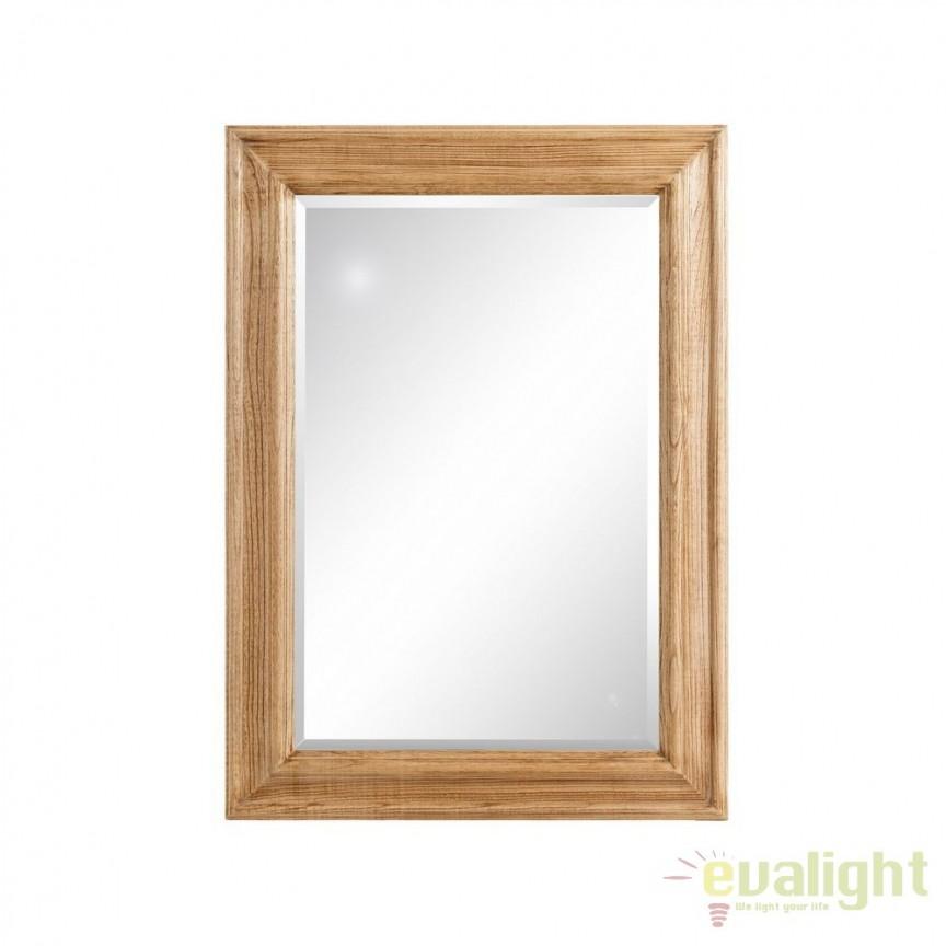Oglinda de perete din lemn de paulownia Austin 81x111cm, natur SX-102362, Oglinzi decorative, Corpuri de iluminat, lustre, aplice, veioze, lampadare, plafoniere. Mobilier si decoratiuni, oglinzi, scaune, fotolii. Oferte speciale iluminat interior si exterior. Livram in toata tara.  a